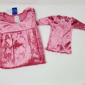Girl's Pink Nightgown Set